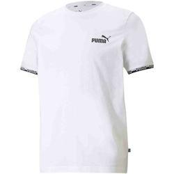 vaatteet Miehet Lyhythihainen t-paita Puma 585778 Valkoinen