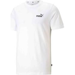 vaatteet Miehet Lyhythihainen t-paita Puma 586668 Valkoinen
