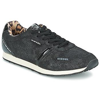kengät Naiset Matalavartiset tennarit Diesel METAL Musta