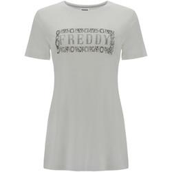 vaatteet Naiset Lyhythihainen t-paita Freddy S1WALT2 Valkoinen