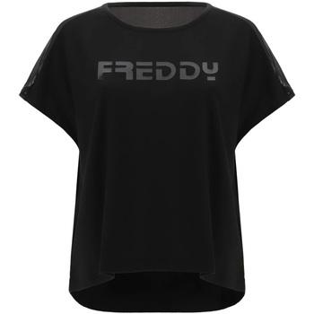 vaatteet Naiset Lyhythihainen t-paita Freddy S1WTBT3 Musta