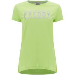 vaatteet Naiset Lyhythihainen t-paita Freddy S1WCLT2 Vihreä