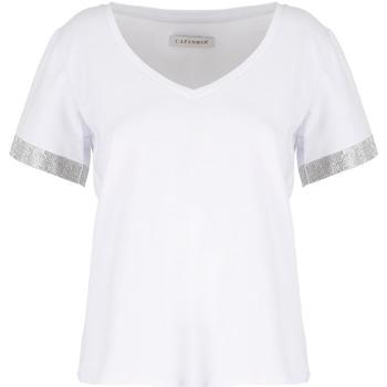 vaatteet Naiset Lyhythihainen t-paita Café Noir JT6490 Valkoinen