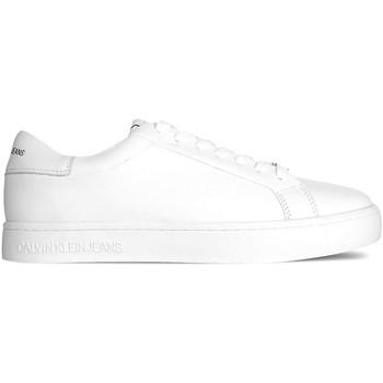 kengät Miehet Matalavartiset tennarit Calvin Klein Jeans YM0YM00084 Valkoinen