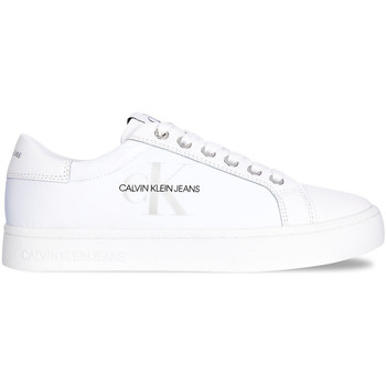 kengät Naiset Matalavartiset tennarit Calvin Klein Jeans YW0YW00060 Valkoinen