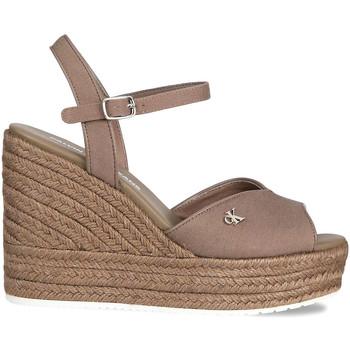 kengät Naiset Sandaalit ja avokkaat Calvin Klein Jeans YW0YW00121 Ruskea