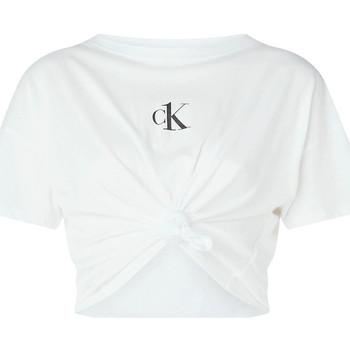 vaatteet Naiset Topit / Puserot Calvin Klein Jeans KW0KW01366 Valkoinen