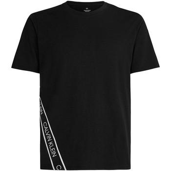 vaatteet Miehet Lyhythihainen t-paita Calvin Klein Jeans 00GMS1K263 Musta