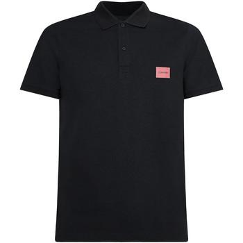 vaatteet Miehet Lyhythihainen poolopaita Calvin Klein Jeans K10K107289 Musta