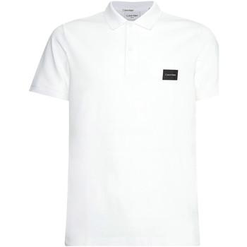 vaatteet Miehet Lyhythihainen poolopaita Calvin Klein Jeans K10K107289 Valkoinen