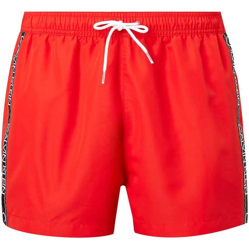 vaatteet Miehet Uima-asut / Uimashortsit Calvin Klein Jeans KM0KM00557 Punainen