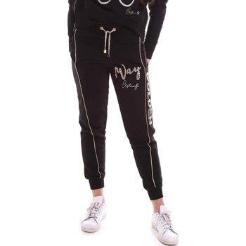 vaatteet Naiset Verryttelyhousut Cristinaeffe 4962 Musta