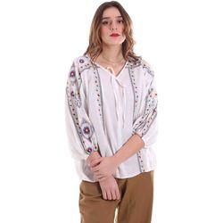 vaatteet Naiset Topit / Puserot Alessia Santi 011SD45039 Valkoinen
