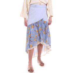 vaatteet Naiset Hame Alessia Santi 011SD75003 Sininen