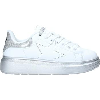 kengät Naiset Matalavartiset tennarit Shop Art SA050116 Valkoinen