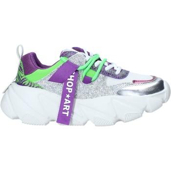 kengät Naiset Matalavartiset tennarit Shop Art SA050143 Violetti