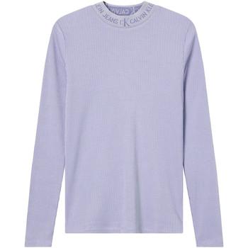 vaatteet Naiset T-paidat pitkillä hihoilla Calvin Klein Jeans J20J215228 Violetti