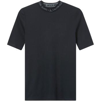 vaatteet Naiset Lyhythihainen t-paita Calvin Klein Jeans J20J215230 Musta