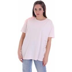 vaatteet Naiset Lyhythihainen t-paita Vicolo RK0160 Vaaleanpunainen