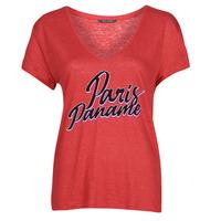 vaatteet Naiset Lyhythihainen t-paita Ikks CARRY Punainen