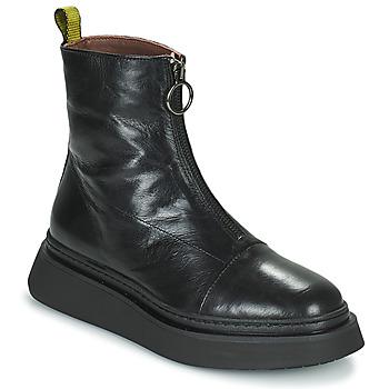 kengät Naiset Bootsit Mjus BASE ZIP Musta