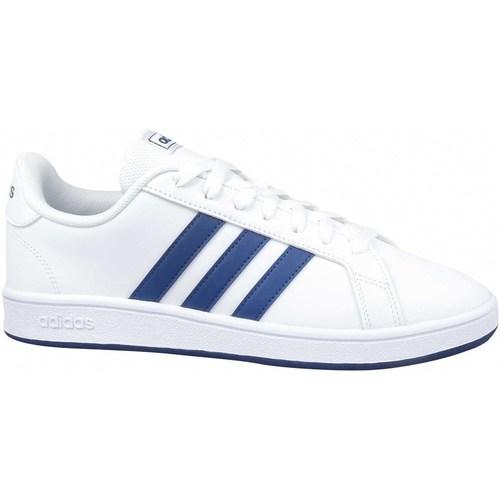 kengät Miehet Matalavartiset tennarit adidas Originals Grand Court Base Valkoiset
