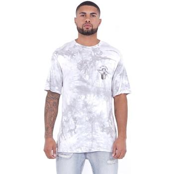vaatteet Miehet Lyhythihainen t-paita Sixth June T-shirt  Custom Tie Dye blanc/rose