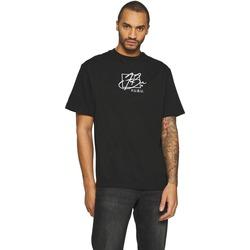 vaatteet Miehet Lyhythihainen t-paita Fubu T-shirt  Script noir