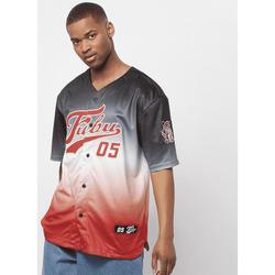 vaatteet Miehet Lyhythihainen t-paita Fubu Maillot  Varsity Baseball noir/blanc/rouge