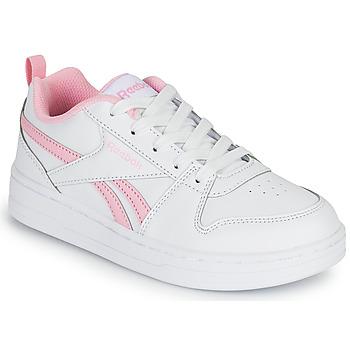 kengät Tytöt Matalavartiset tennarit Reebok Classic REEBOK ROYAL PRIME Valkoinen / Vaaleanpunainen