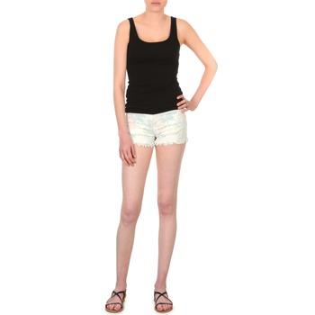 vaatteet Naiset Shortsit / Bermuda-shortsit School Rag SELENA FLOWERS White / Kukkainen