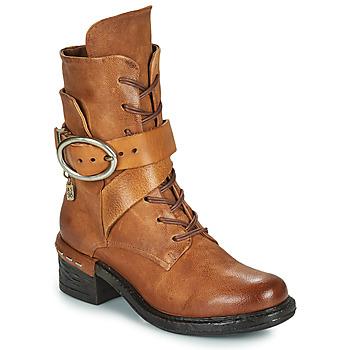 kengät Naiset Nilkkurit Airstep / A.S.98 NOVASUPER LACE Kamelinruskea