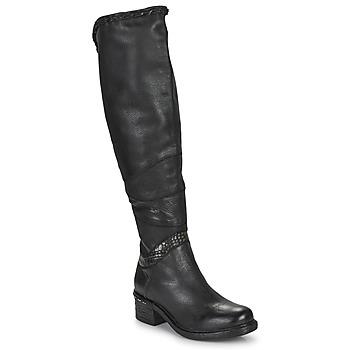 kengät Naiset Ylipolvensaappaat Airstep / A.S.98 NOVASUPER HIGH Musta