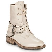 kengät Naiset Bootsit Airstep / A.S.98 FLOWER BUCKLE Beige