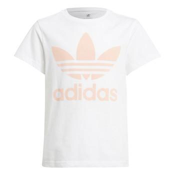 vaatteet Lapset Lyhythihainen t-paita adidas Originals VAGUO Valkoinen