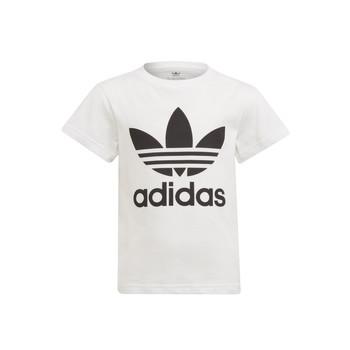 vaatteet Lapset Lyhythihainen t-paita adidas Originals FLORE Valkoinen