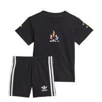 vaatteet Pojat Kokonaisuus adidas Originals COTES Musta