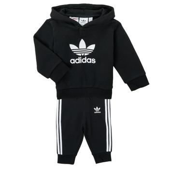 vaatteet Lapset Kokonaisuus adidas Originals TROPLA Musta