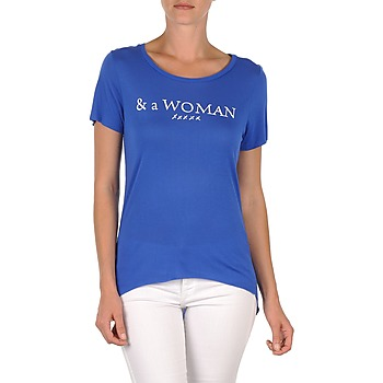vaatteet Naiset Lyhythihainen t-paita School Rag TEMMY WOMAN Sininen