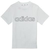 vaatteet Pojat Lyhythihainen t-paita adidas Performance ALBA Valkoinen