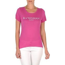 vaatteet Naiset Lyhythihainen t-paita School Rag TEMMY WOMAN Violetti