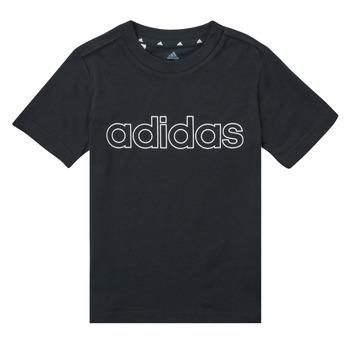 vaatteet Pojat Lyhythihainen t-paita adidas Performance SAMINA Musta
