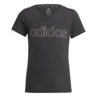 vaatteet Tytöt Lyhythihainen t-paita adidas Performance PLAKAT Musta