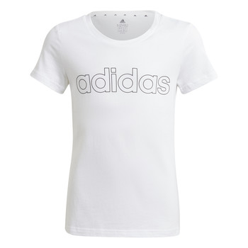 vaatteet Tytöt Lyhythihainen t-paita adidas Performance HOLLIA Valkoinen