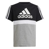 vaatteet Pojat Lyhythihainen t-paita adidas Performance MOULITA Harmaa / Musta