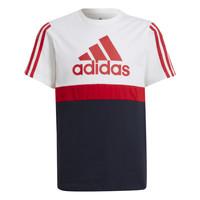 vaatteet Pojat Lyhythihainen t-paita adidas Performance GUILIA Valkoinen / Laivastonsininen