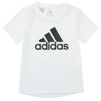 vaatteet Pojat Lyhythihainen t-paita adidas Performance NADEGE Valkoinen