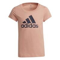vaatteet Tytöt Lyhythihainen t-paita adidas Performance ALBERIC Vaaleanpunainen