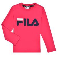 vaatteet Tytöt T-paidat pitkillä hihoilla Fila ESPIN Vaaleanpunainen