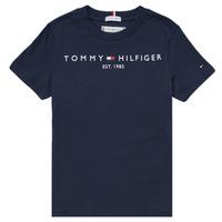 vaatteet Pojat Lyhythihainen t-paita Tommy Hilfiger SELINERA Laivastonsininen